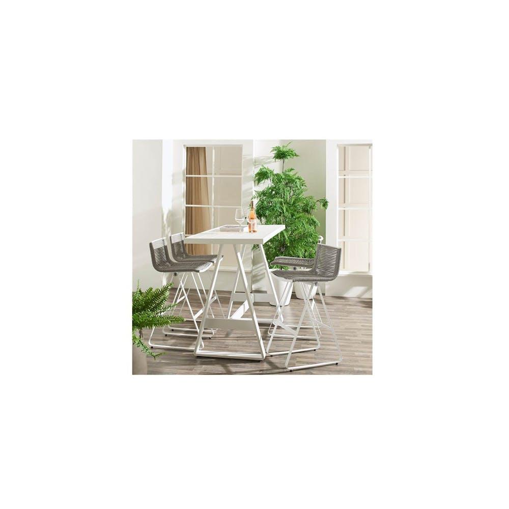 Entesi Outdoor Bar Chair - Grey/White