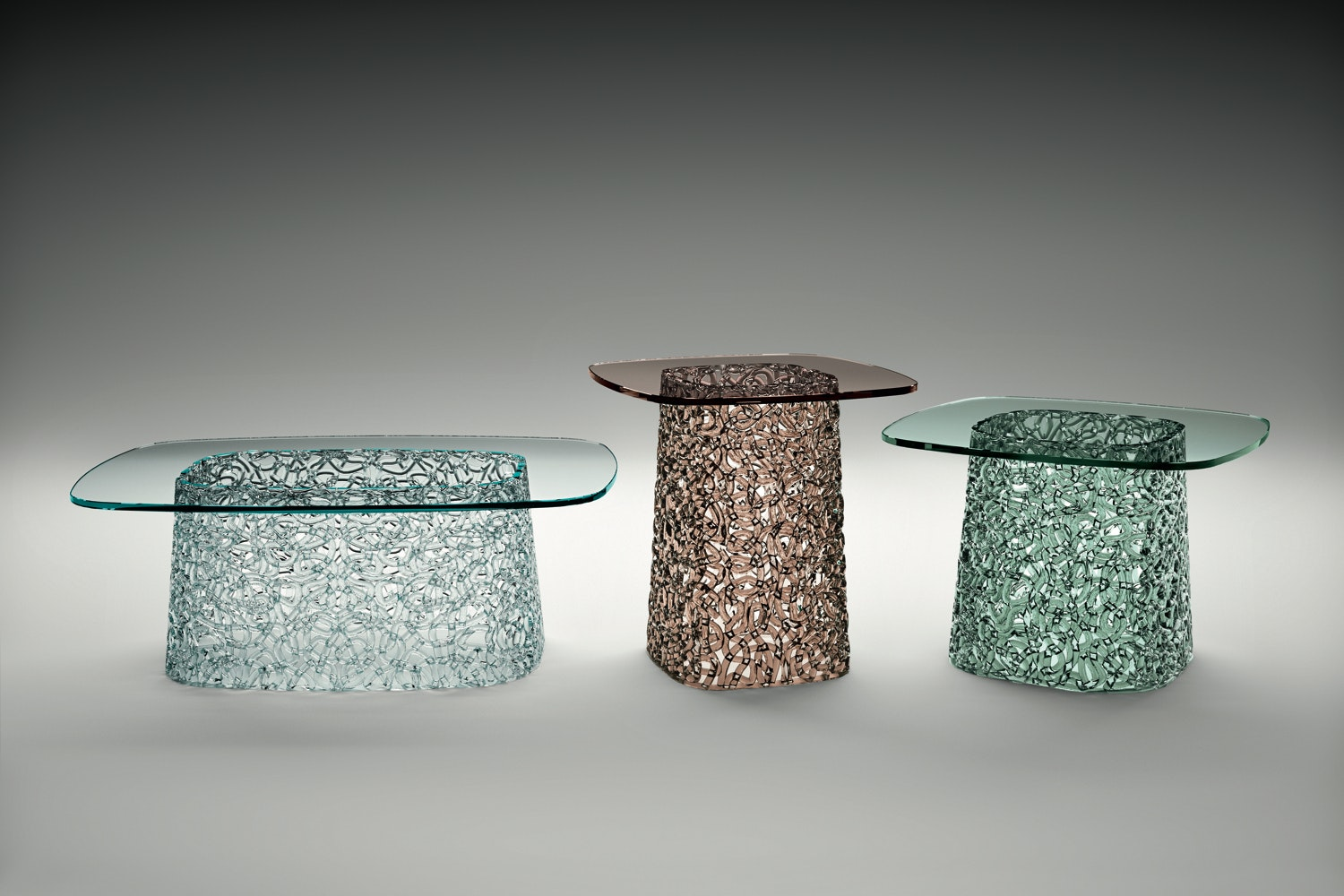 Macrame Coffee Table by Lucidi & Pevere for Fiam Italia