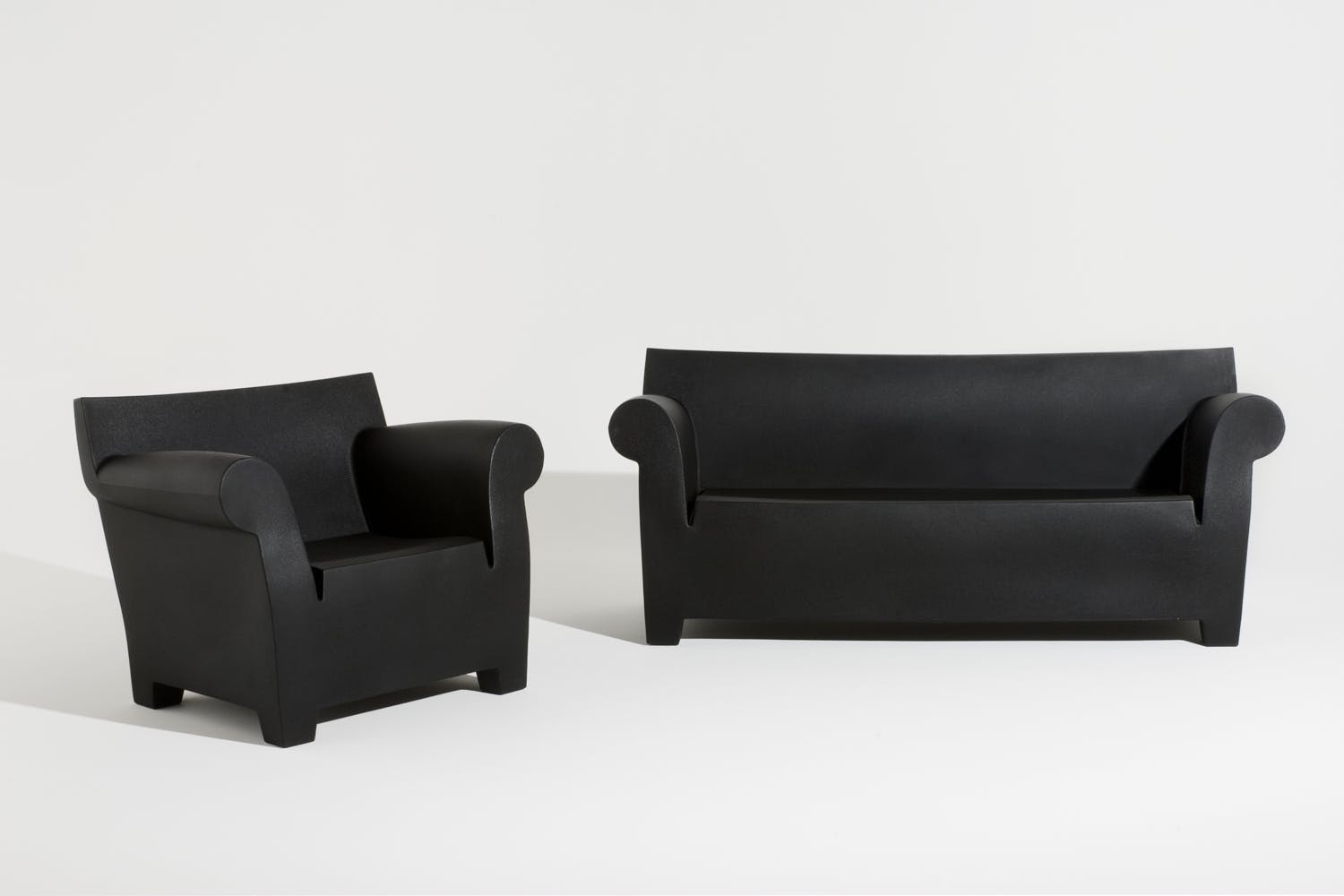 bubble club sofa armchair by philippe starck for kartell. Black Bedroom Furniture Sets. Home Design Ideas