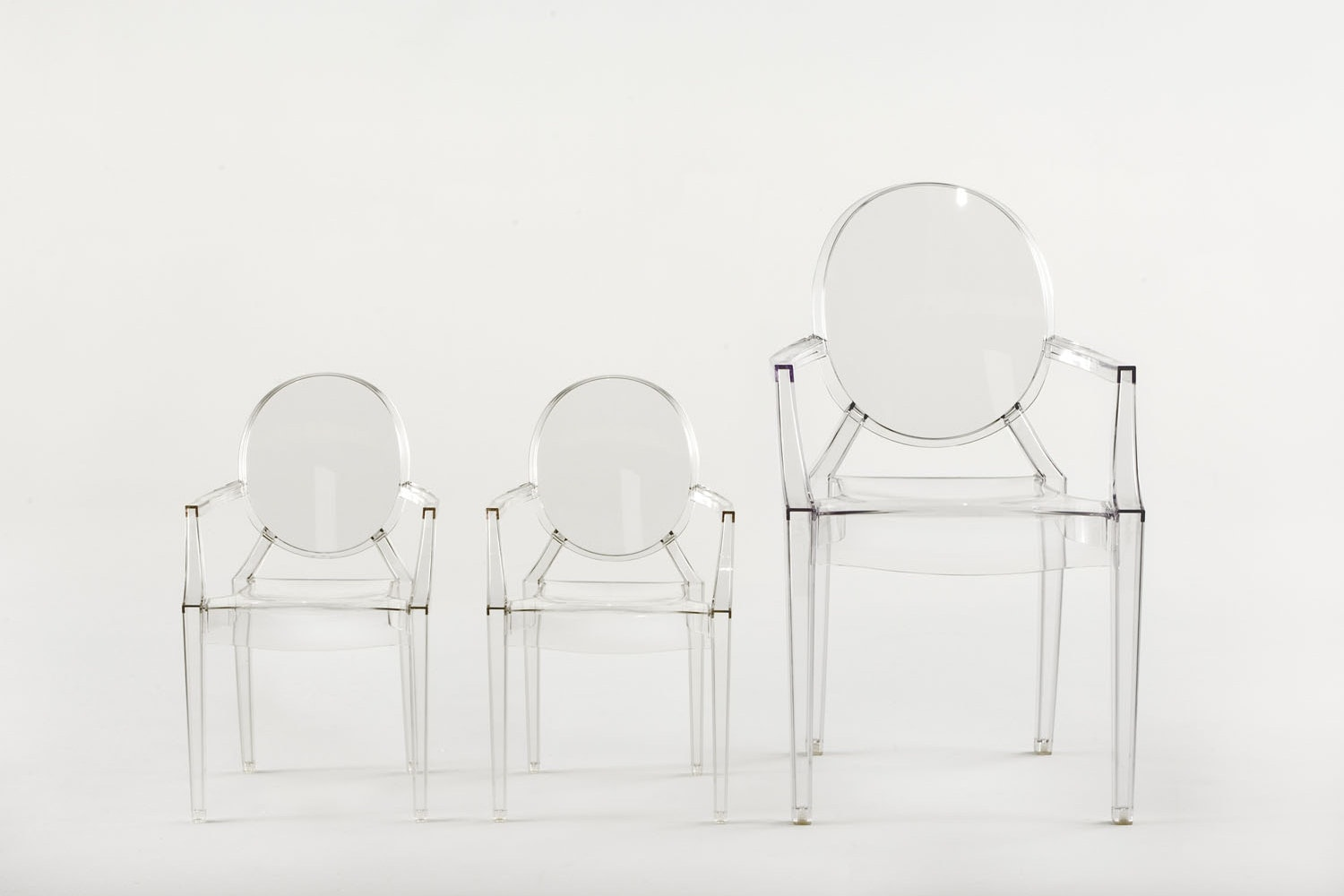Lou Lou Ghost Chair with Arms by Philippe Starck for Kartell