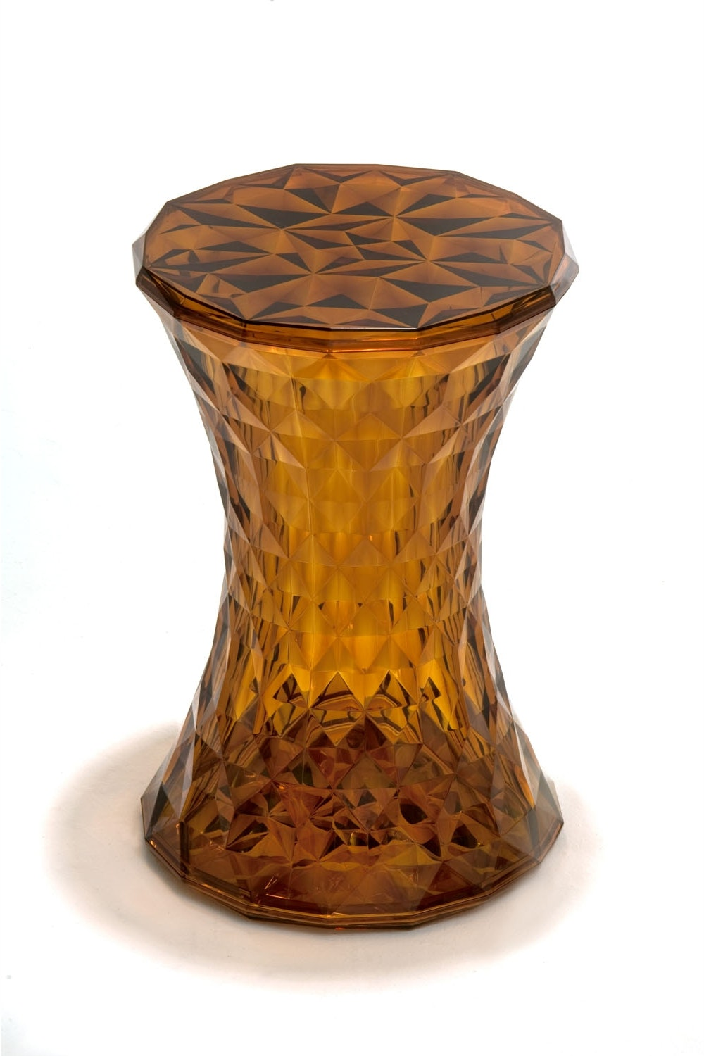 Stone Stool in Transparent Amber