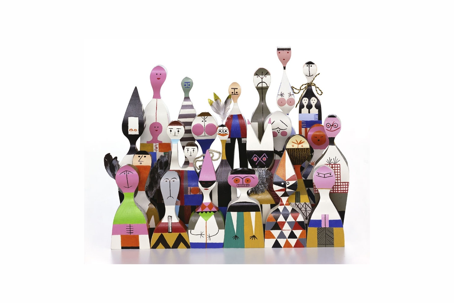 Wooden Dolls by Alexander Girard for Vitra