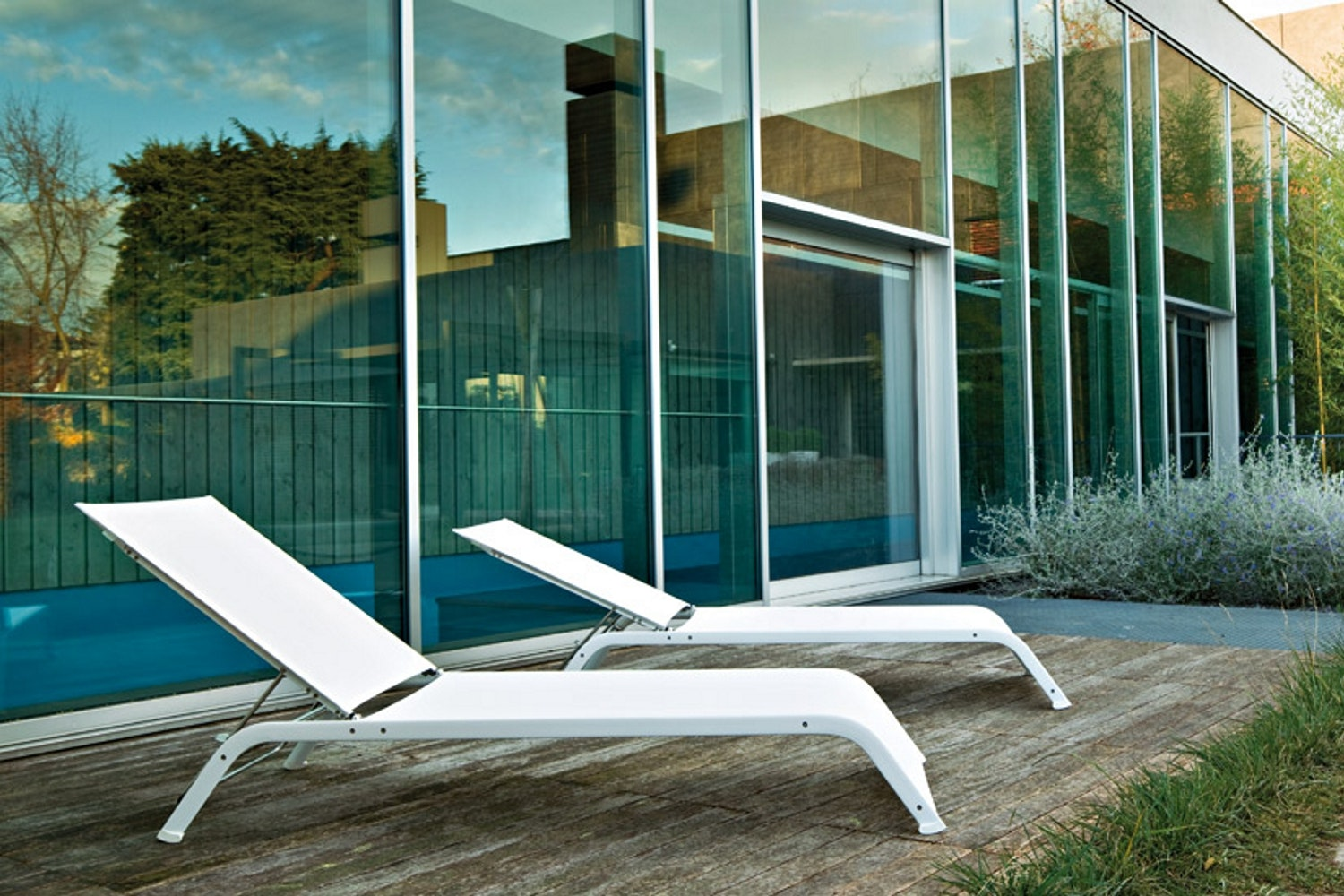 Lazy Sunbed Chaise by Michel Boucquillon for Serralunga