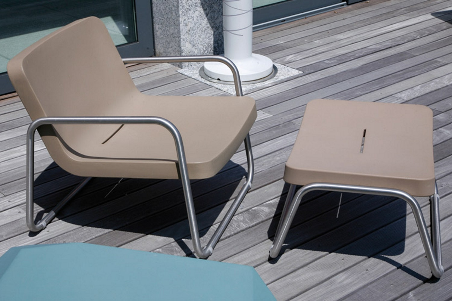 Time Out Armchair & Stool by Rodolfo Dordoni for Serralunga