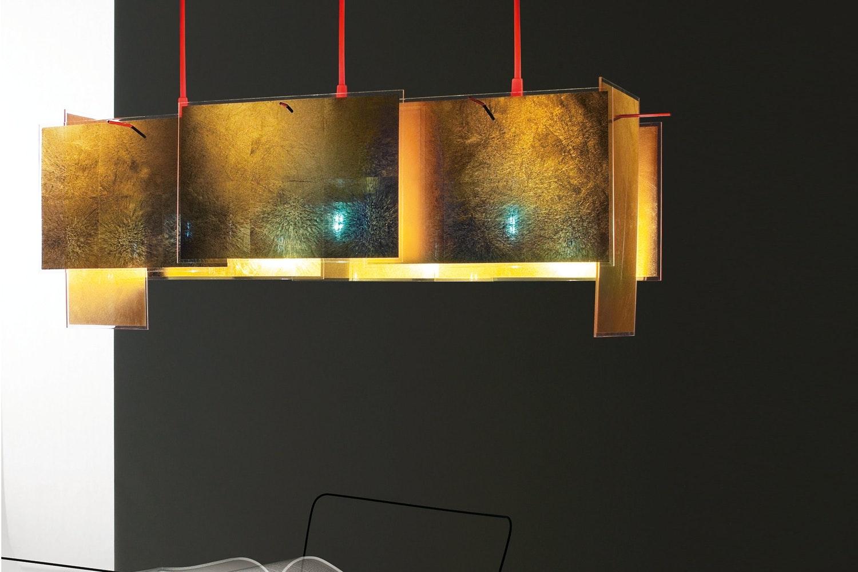 24 Karat Blau M Suspension Lamp by Axel Schmid for Ingo Maurer