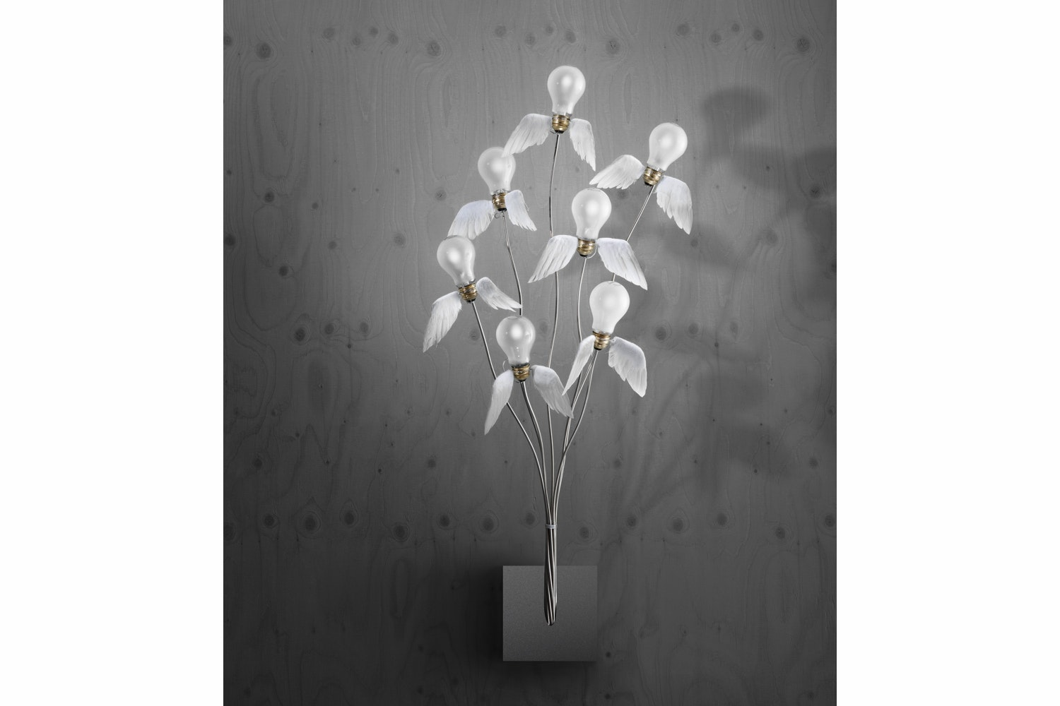 Seven off the Wall Wall Lamp by Ingo Maurer und Team for Ingo Maurer