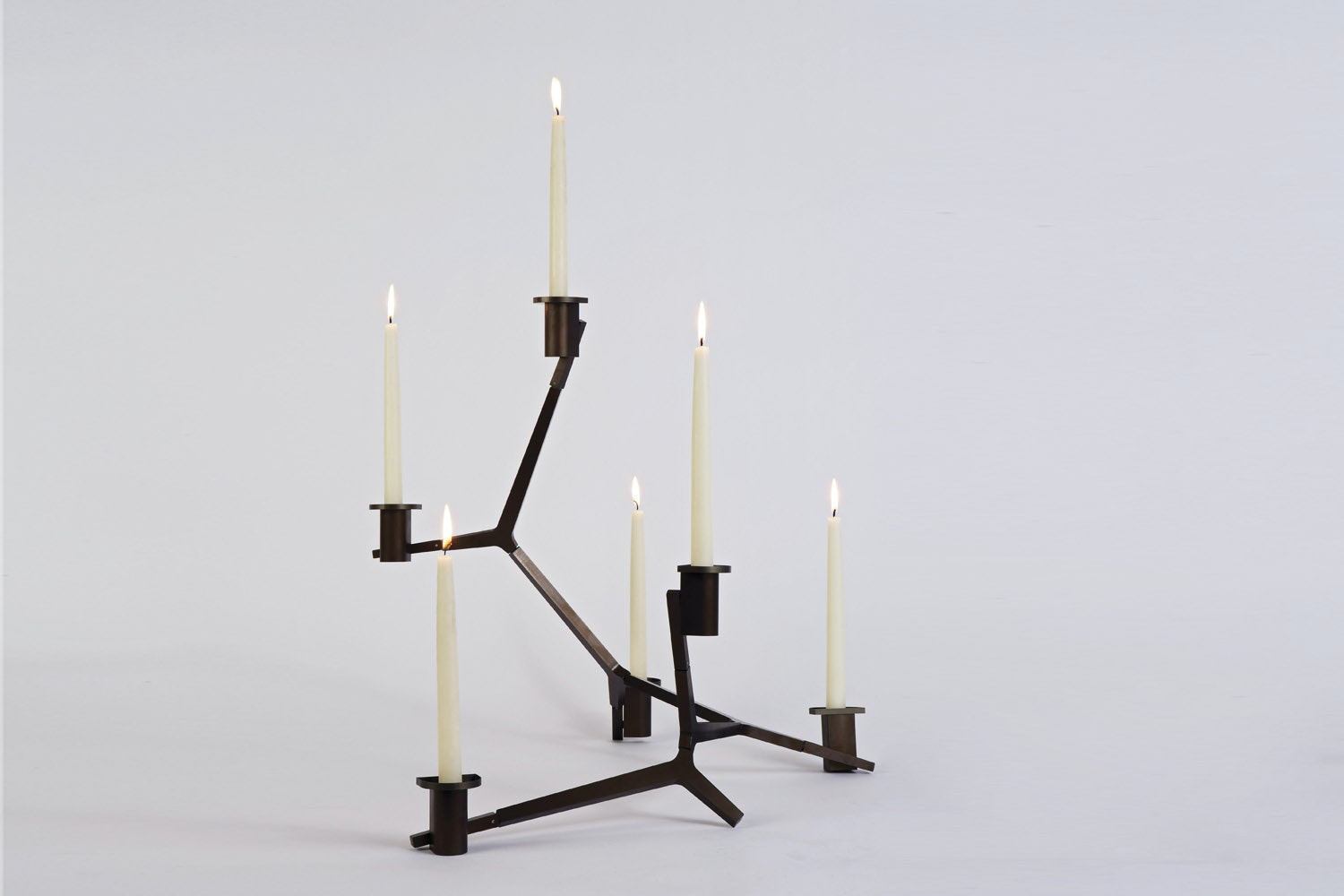 Agnes Table Candelabra - 6 Candles by Lindsey Adams Adelman for Roll & Hill
