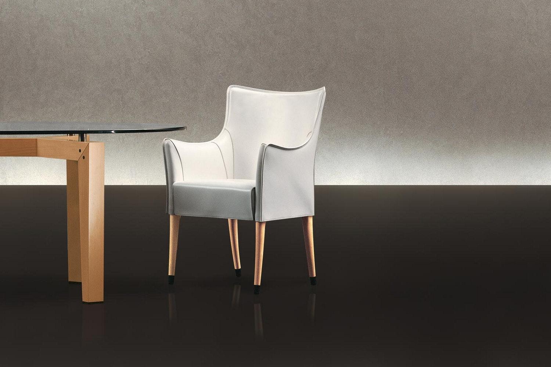 Giorgina Cuoio Chair by Antonello Mosca for Giorgetti