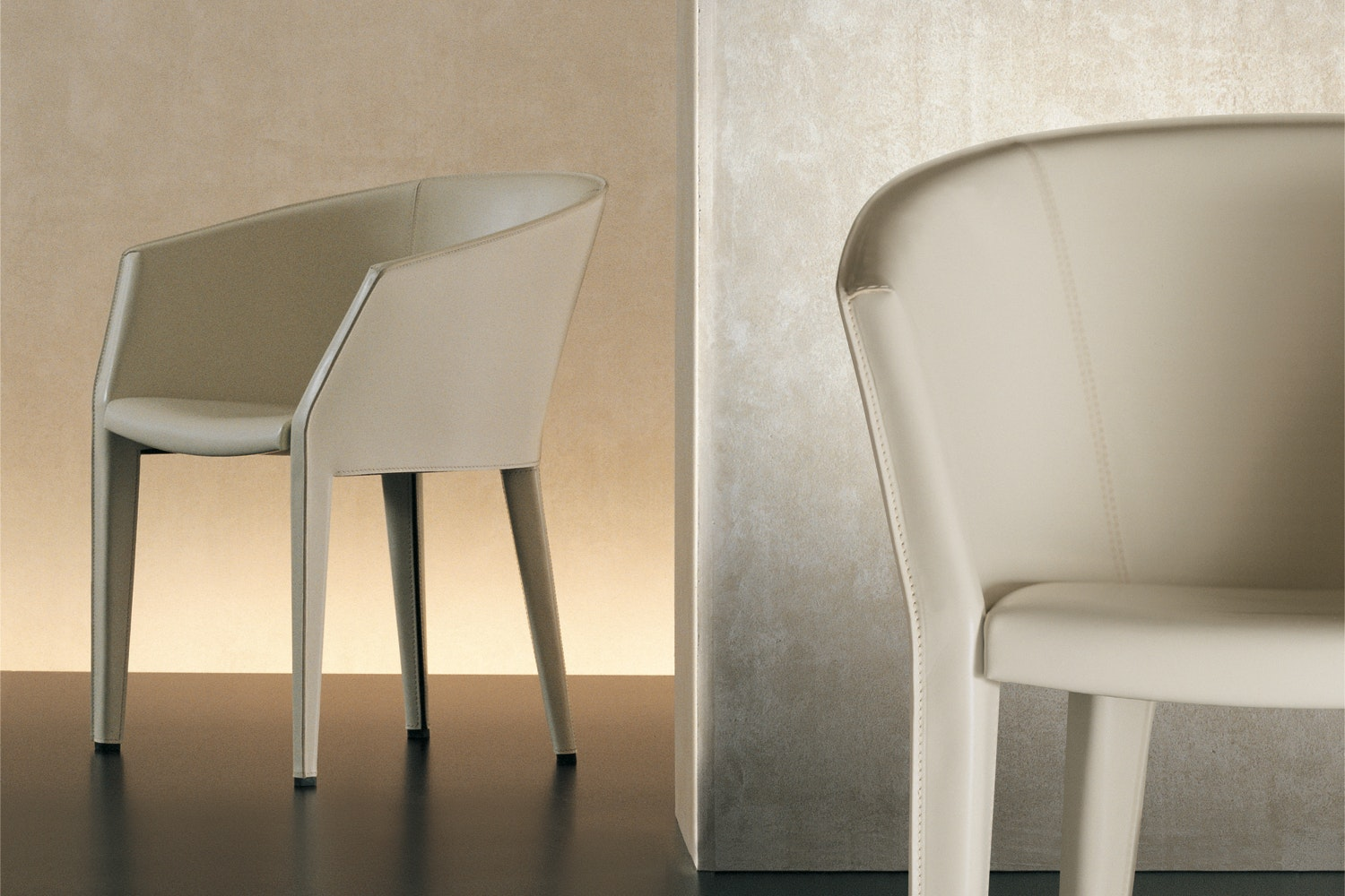 Margot Cuoio Chair by Antonello Mosca for Giorgetti