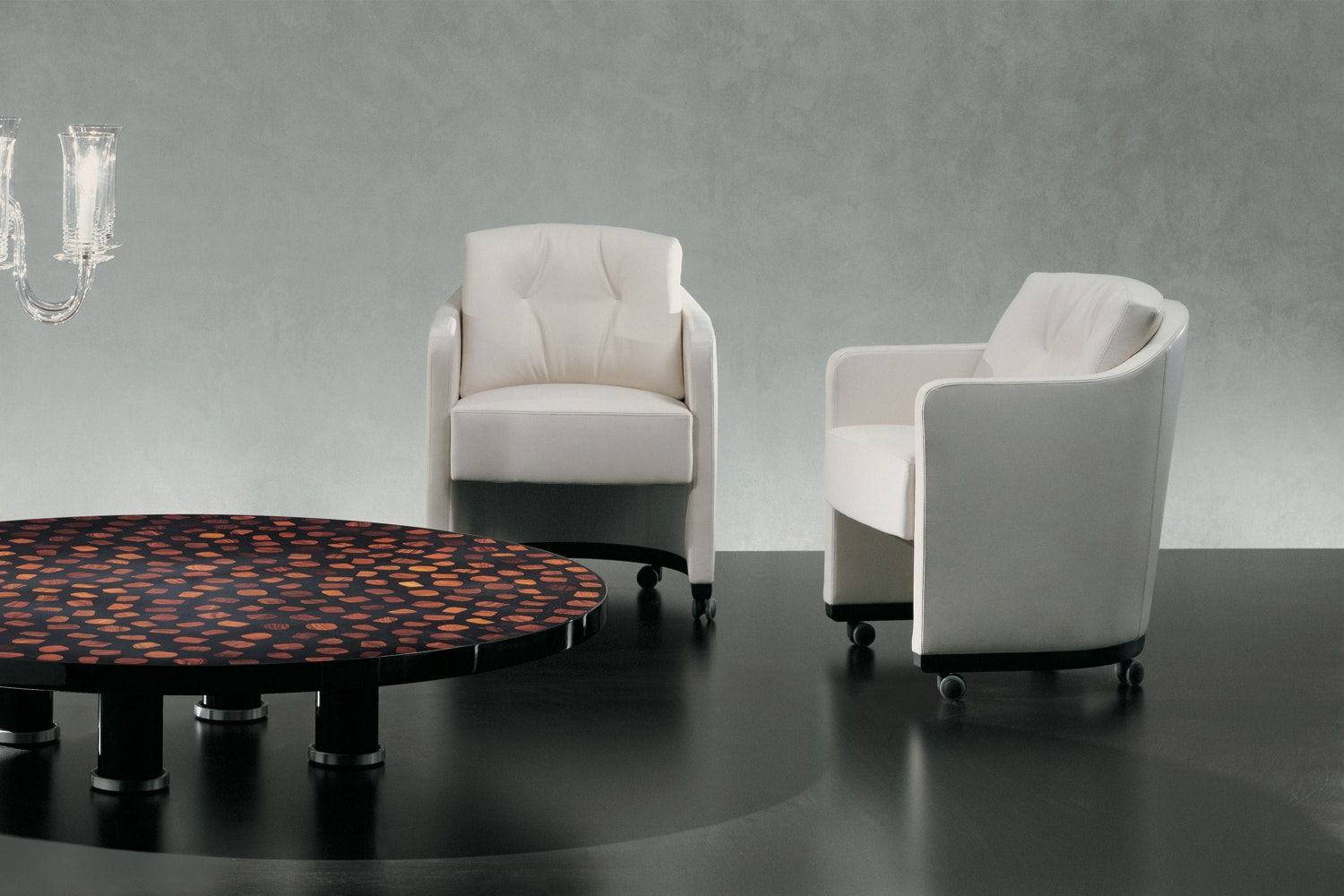 Musa Swivel Armchair by Antonello Mosca for Giorgetti