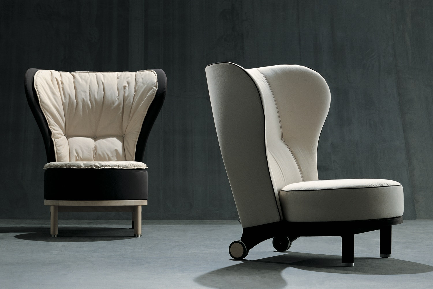 Rea Armchair & Ottoman by Chi Wing Lo for Giorgetti