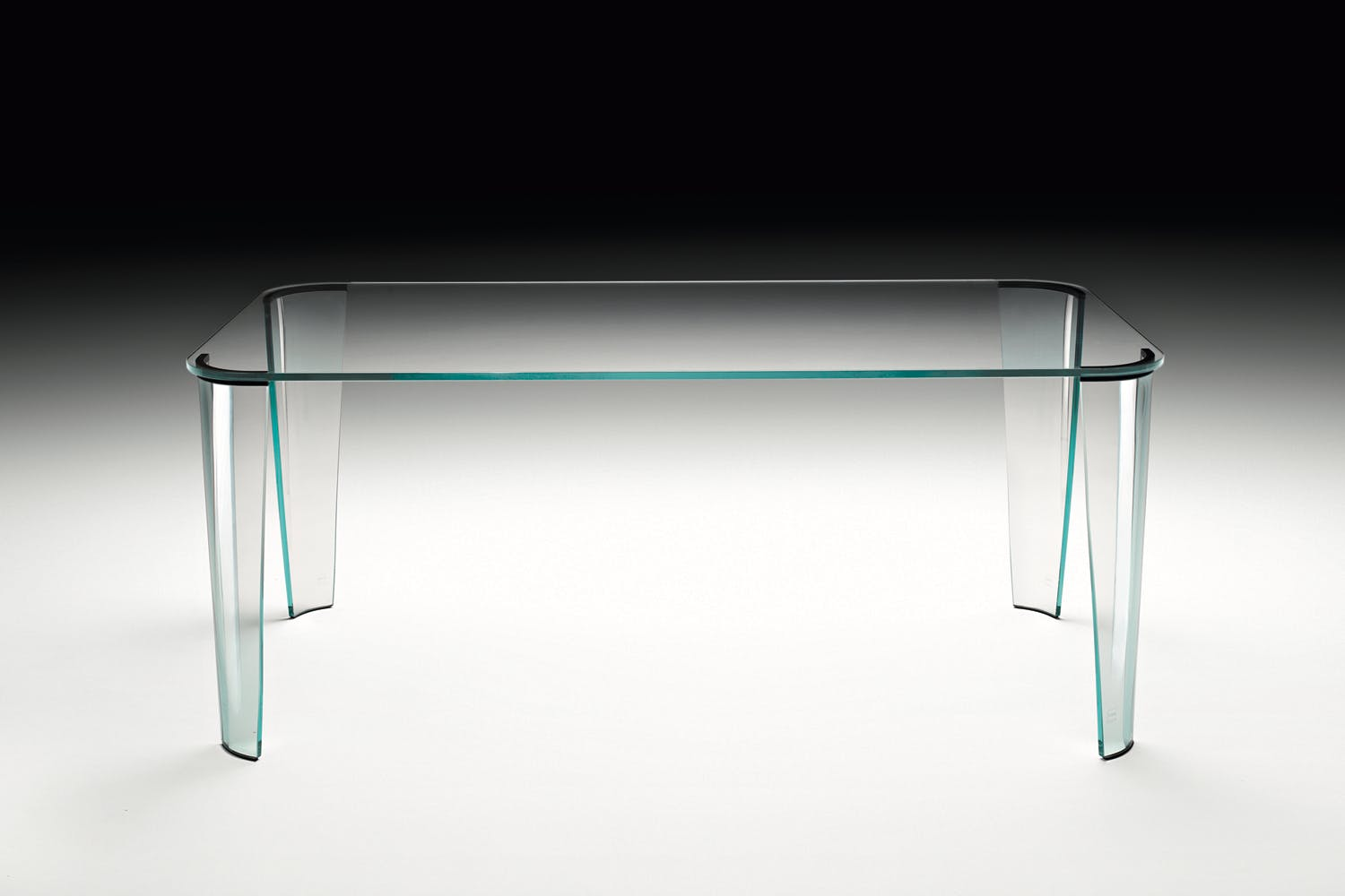 Montefeltro table by enzo mari for fiam italia space for Glass tavoli cristallo