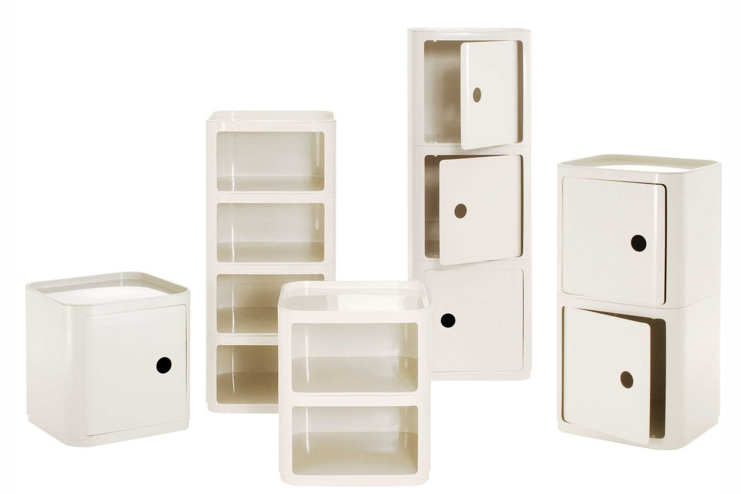 Componibili Square Modular Elements by Anna Castelli Ferrieri for Kartell