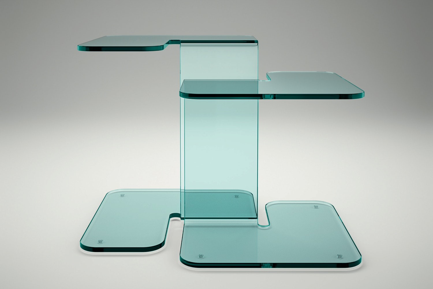 Twin Side Table by Stefan Schoning for Fiam Italia