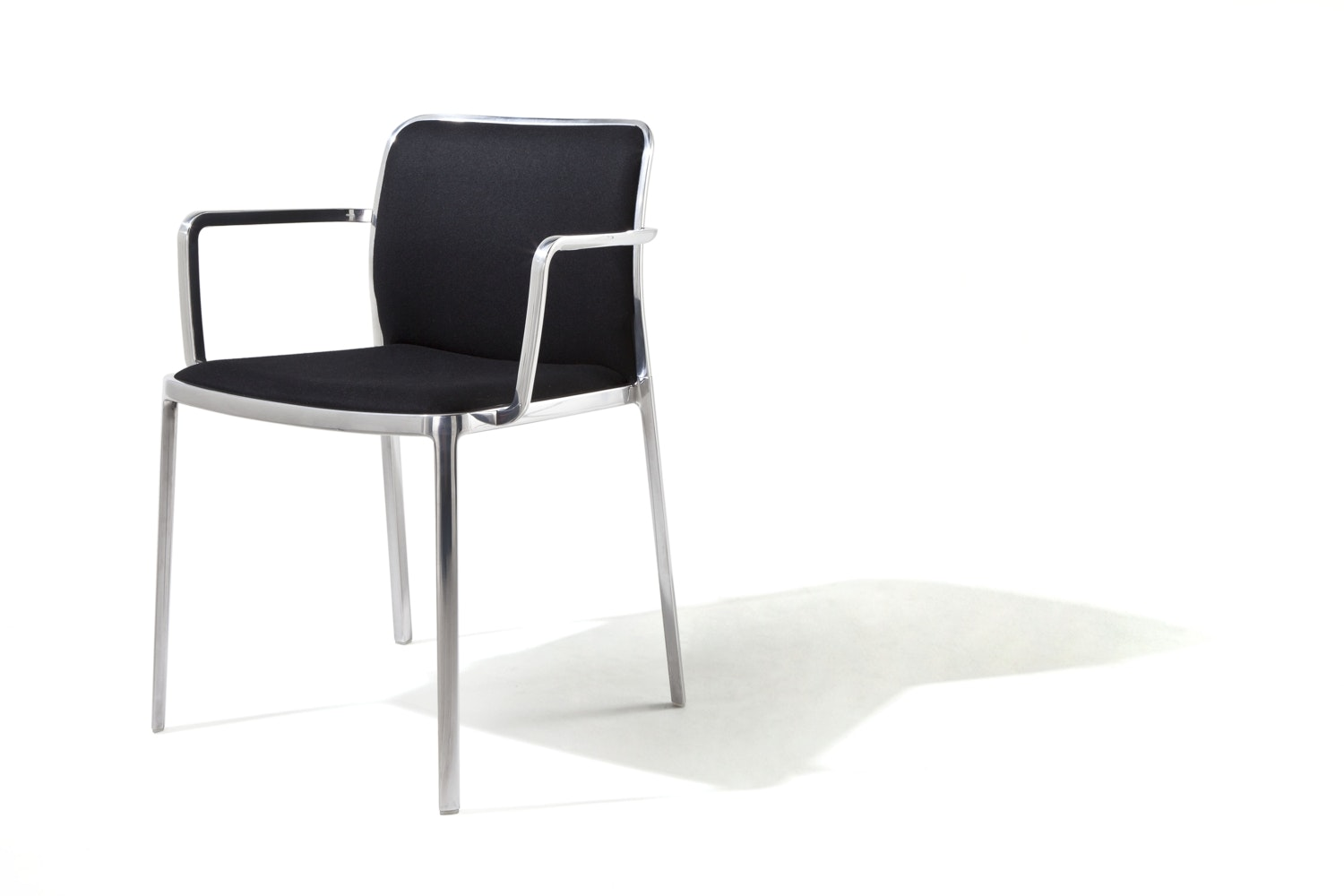 Audrey Soft Shiny Chair with Arms by Piero Lissoni for Kartell