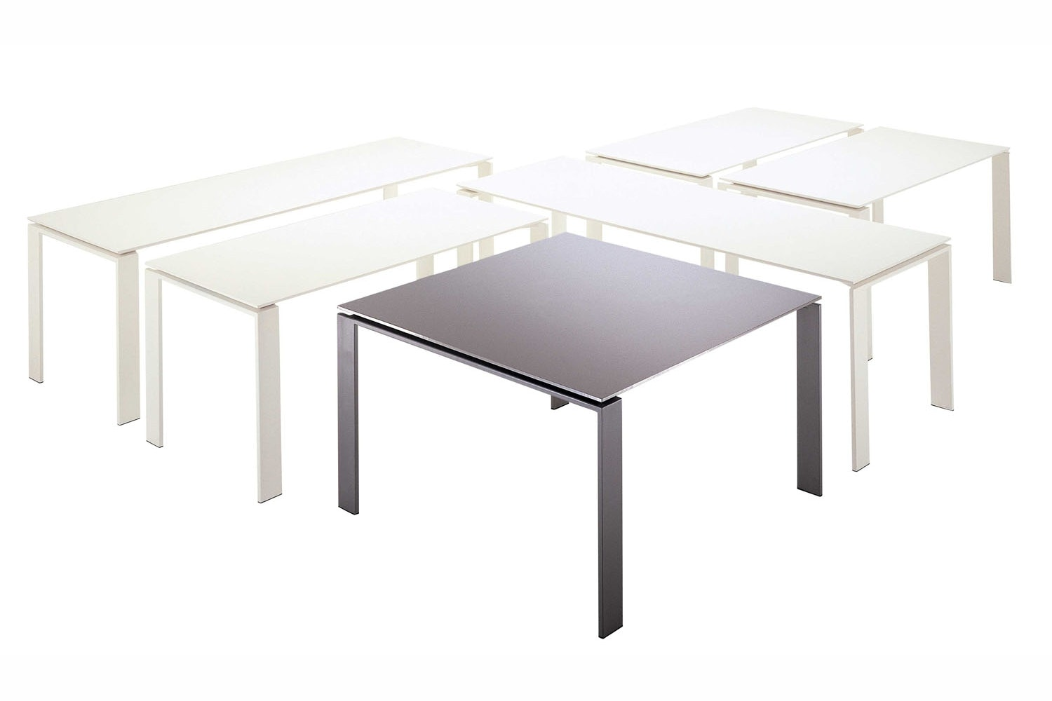 Four Aluminium Table by Ferruccio Laviani for Kartell