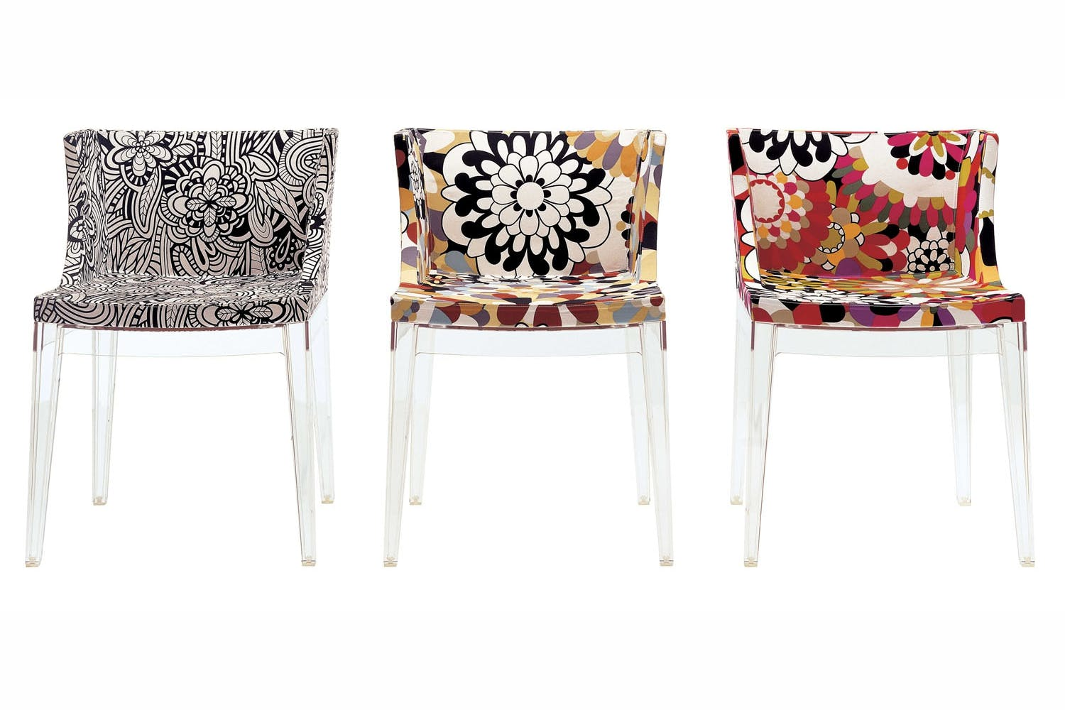 mademoiselle chair with arms by philippe starck for kartell space