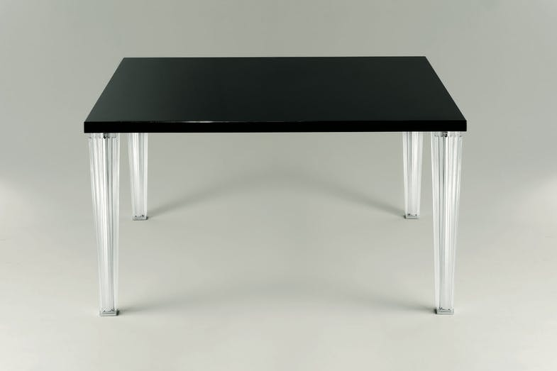 TopTop Dining Table with Small Glass Top by Philippe Starck with Eugeni Quitllet for Kartell