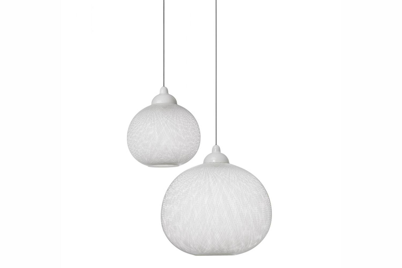 Non Random Large White Suspension Lamp by Bertjan Pot for Moooi