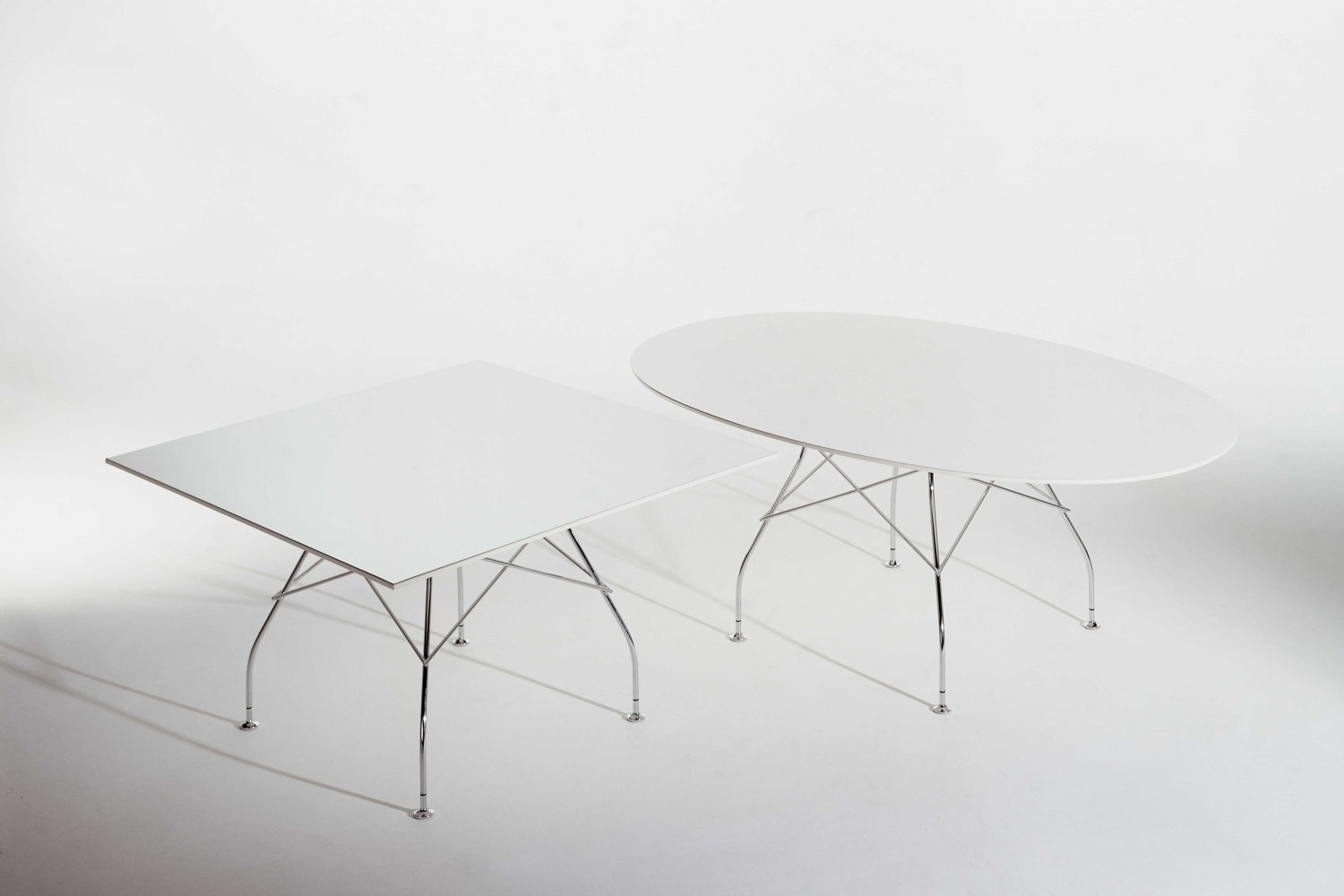Glossy Oval Table by Antonio Citterio with Oliver Low for Kartell