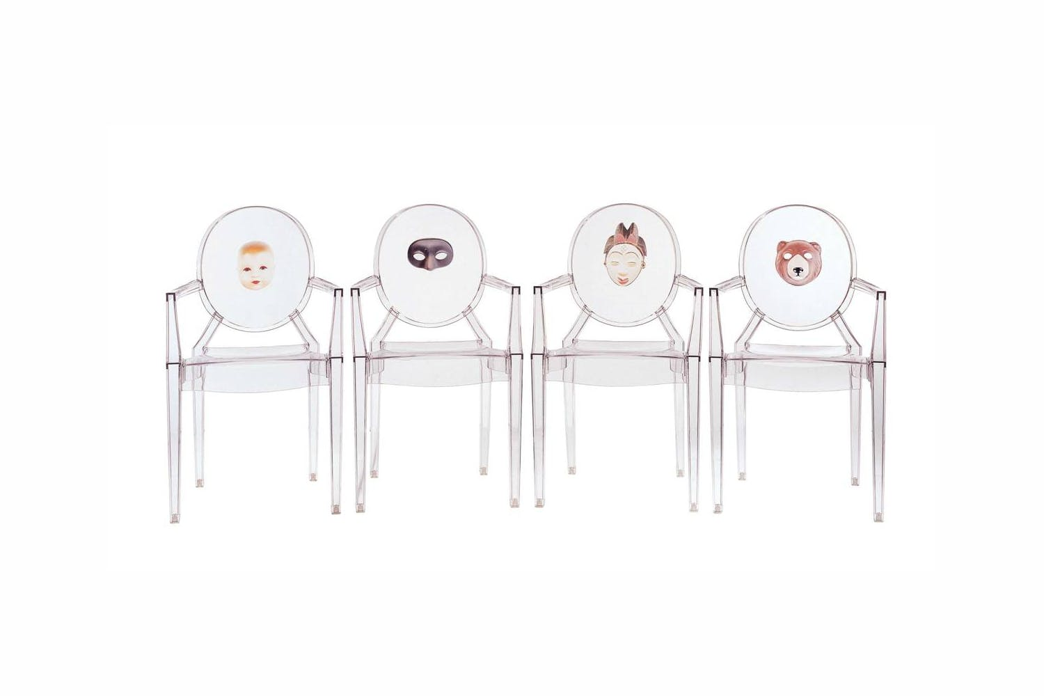 Louis Ghost Print Chair with Arms by Philippe Starck for Kartell ...