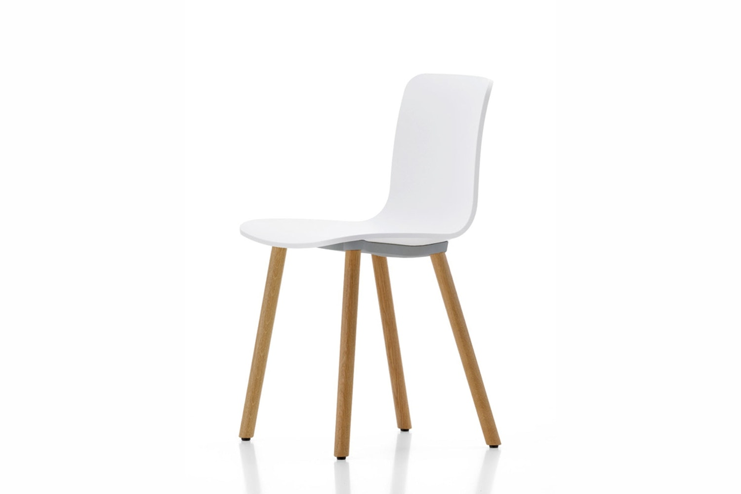HAL Wood White Chair by Jasper Morrison for Vitra
