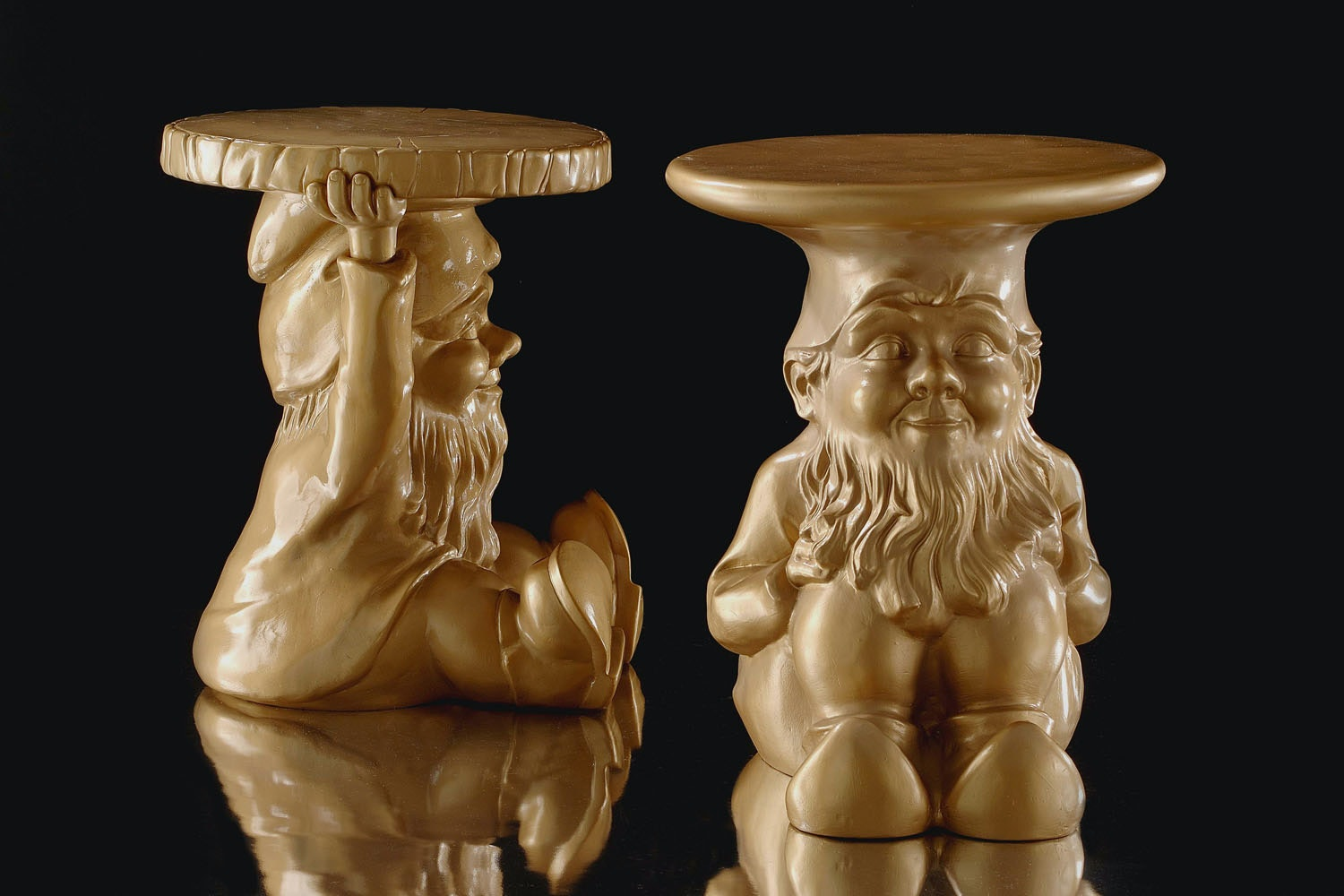 Gnomes Gold Stool by Philippe Starck for Kartell