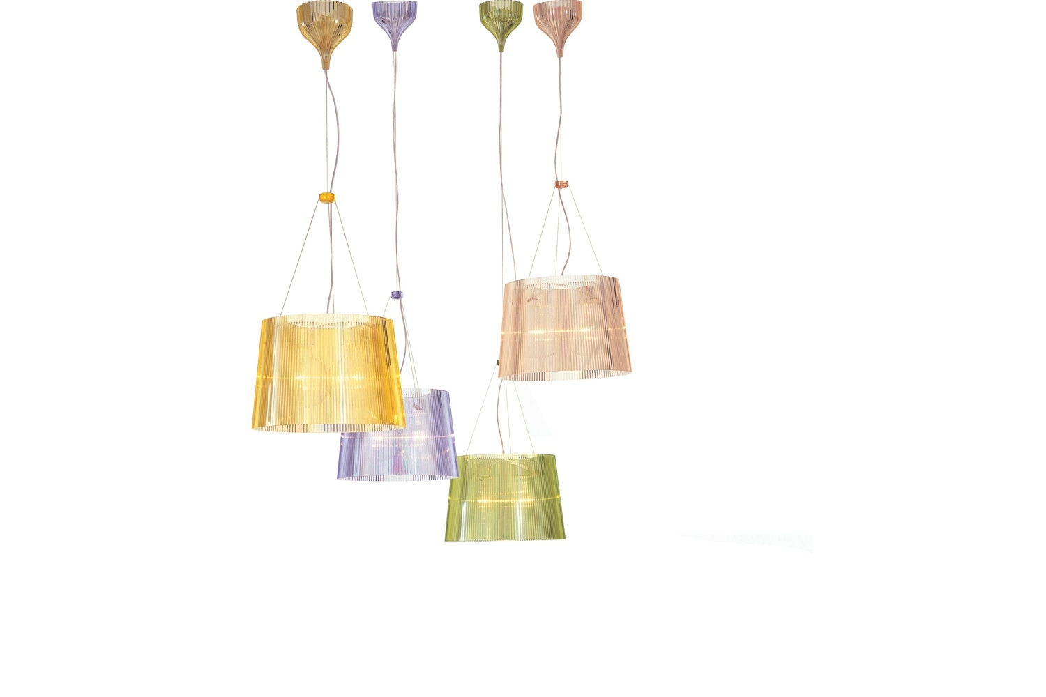 Ge Metallic Suspension Lamp by Ferruccio Laviani for Kartell