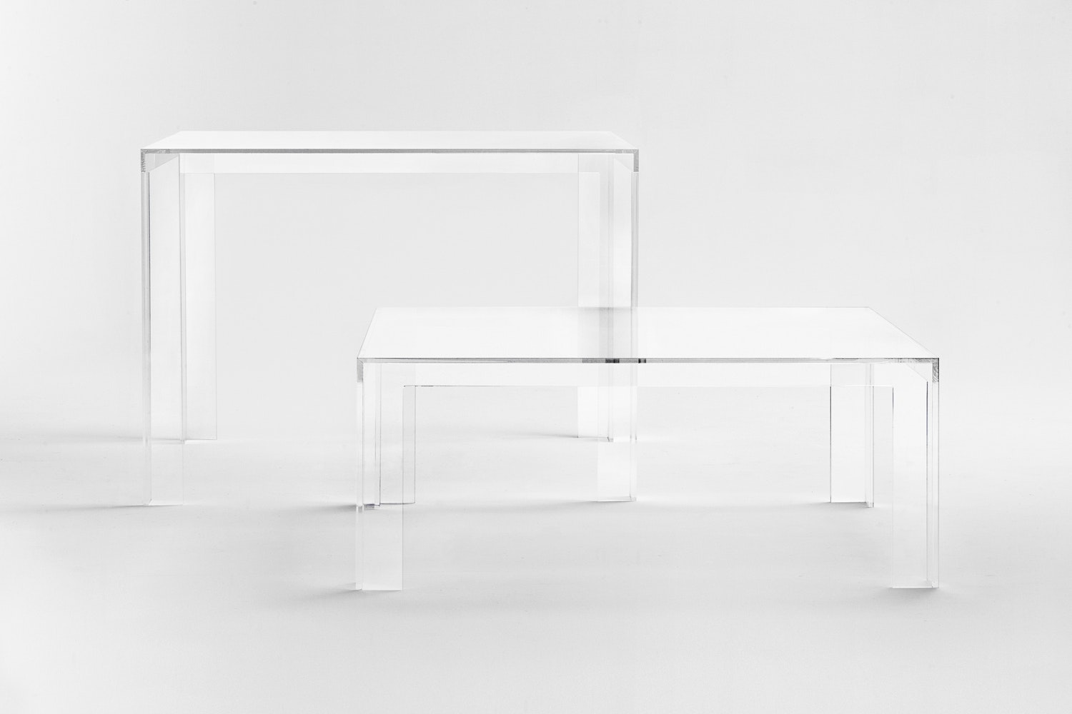 Invisible Coffee Table by Tokujin Yoshioka for Kartell
