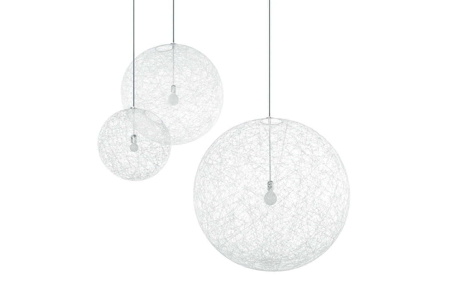 Random Light Small White Suspension Lamp by Bertjan Pot for Moooi
