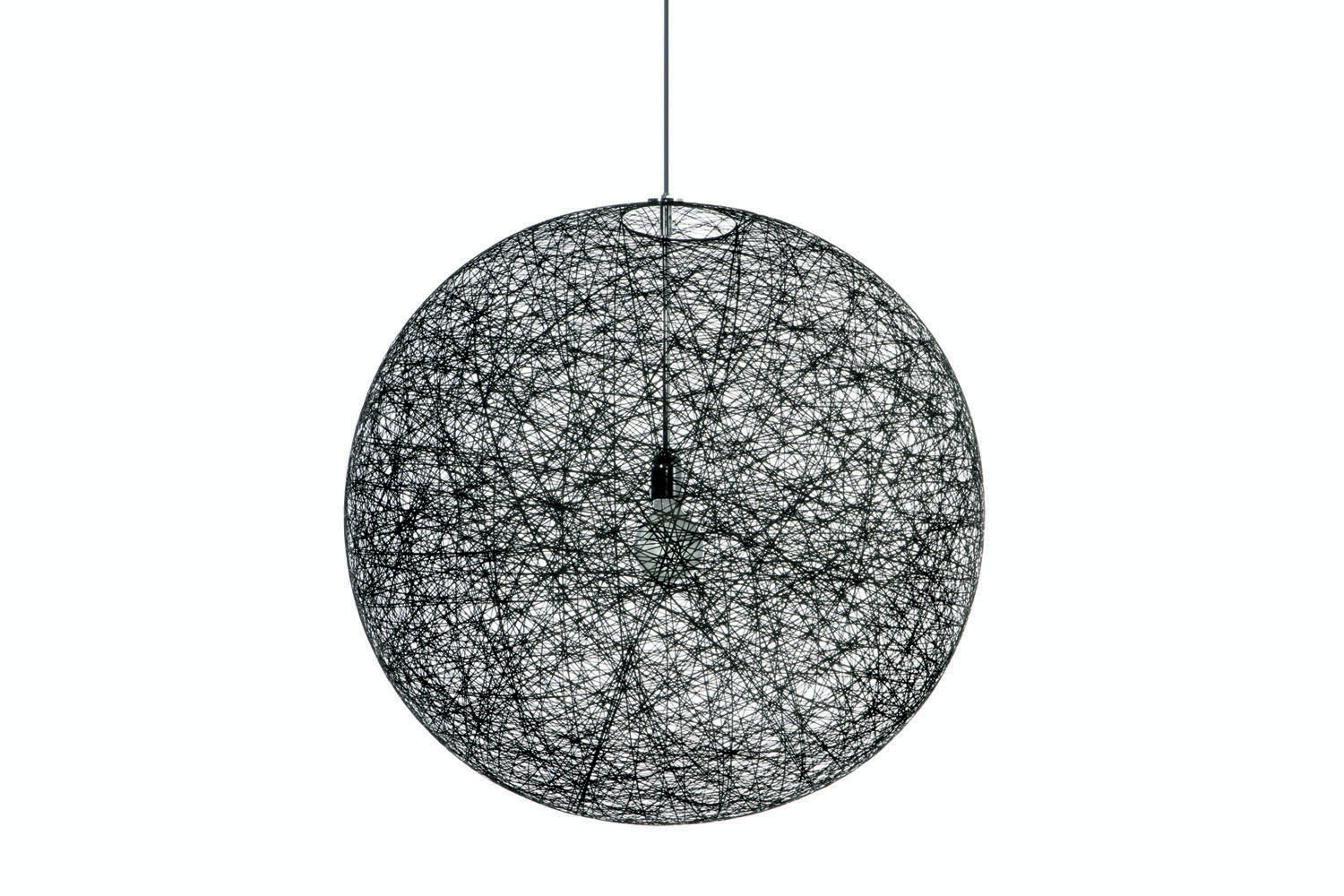 Random Light Large Black Suspension Lamp by Bertjan Pot for Moooi
