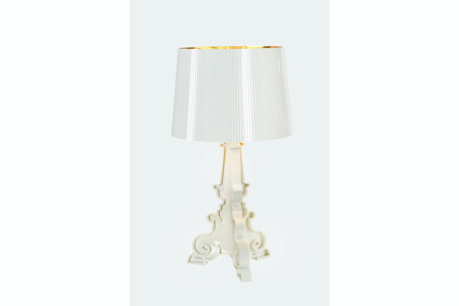 Bourgie White/Gold Table Lamp by Ferruccio Laviani for Kartell