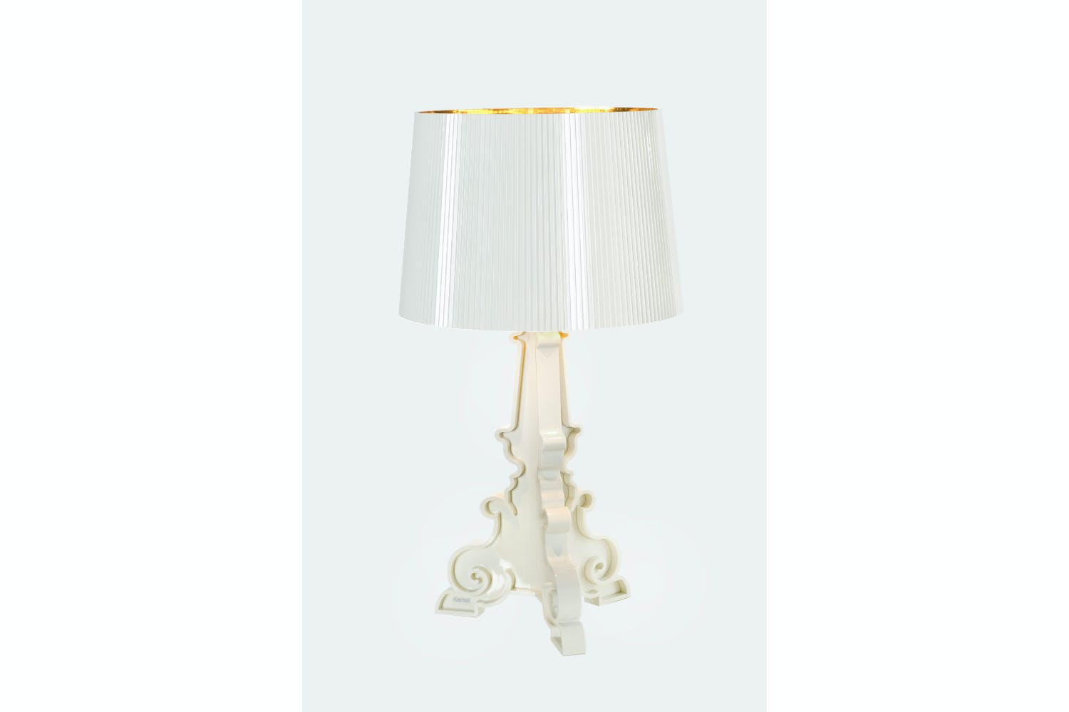 bourgie whitegold table lamp by ferruccio laviani for kartell bourgie ferruccio laviani