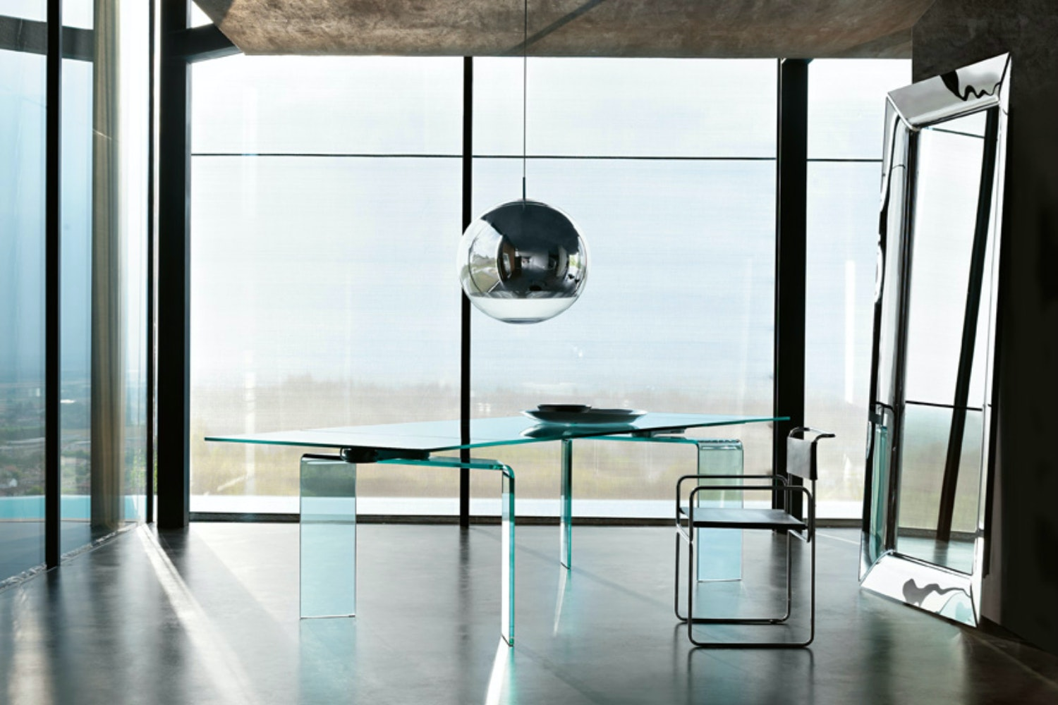 Caadre Standing Mirror 76x195cm in Titanium by Philippe Starck for Fiam Italia