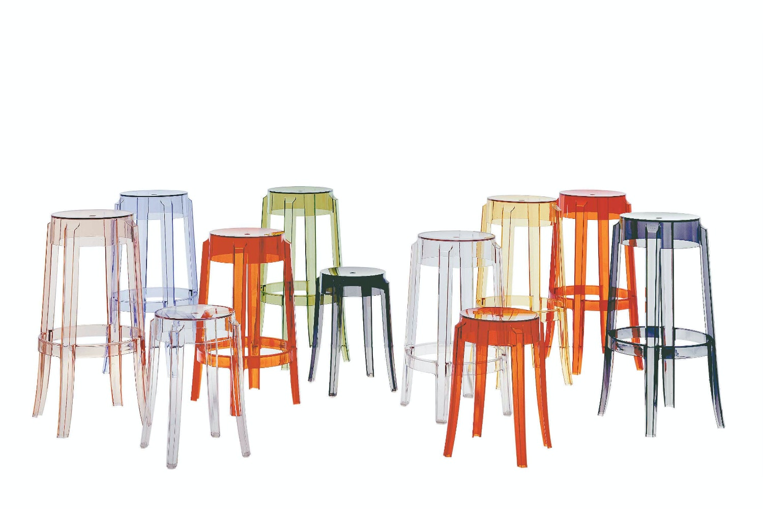 Charles Ghost Mid Stool by Philippe Starck for Kartell