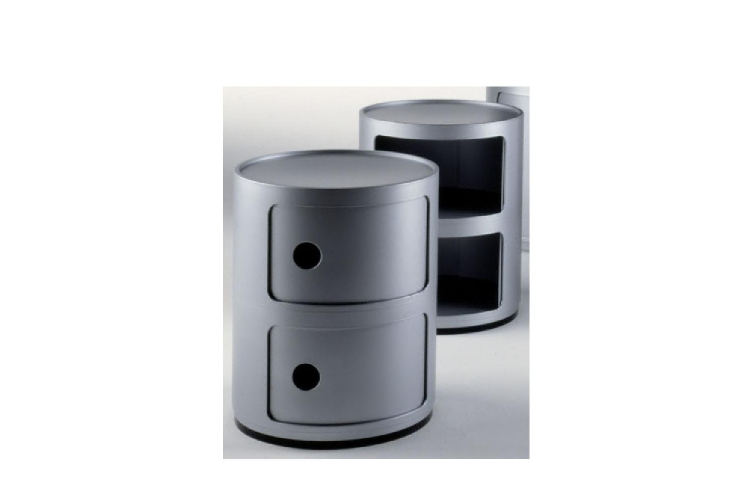 Componibili 2 Round in Silver Elements by Anna Castelli Ferrieri for Kartell
