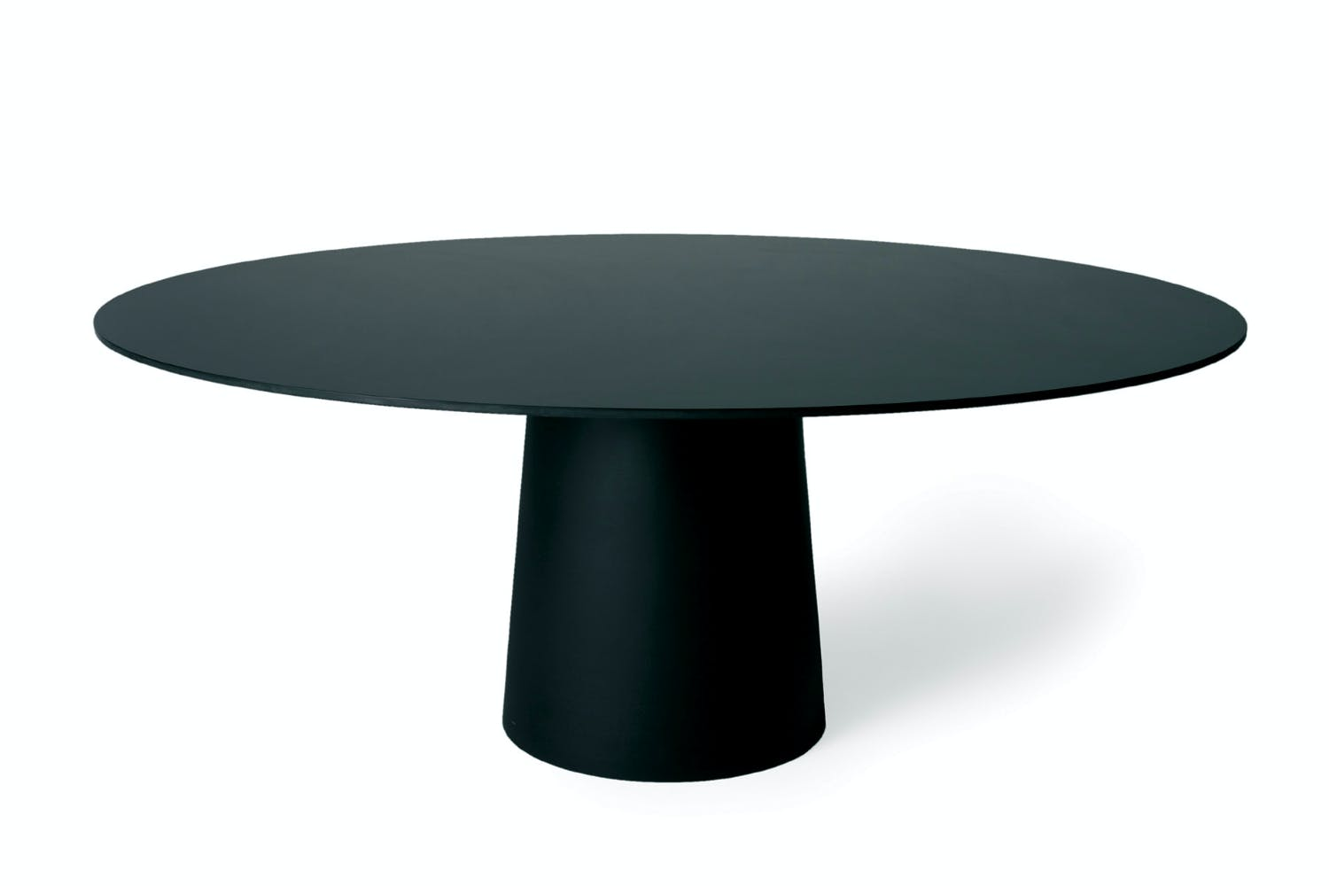 Container table hpl round 160cm by marcel wanders for - Pied de table 100 cm ...