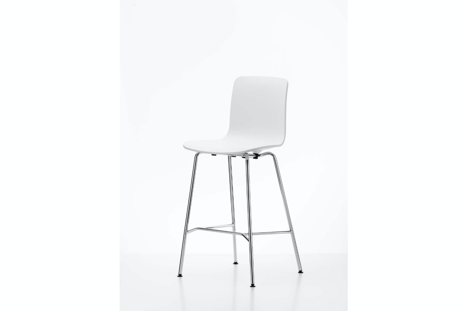 HAL Stool Medium White by Jasper Morrison for Vitra