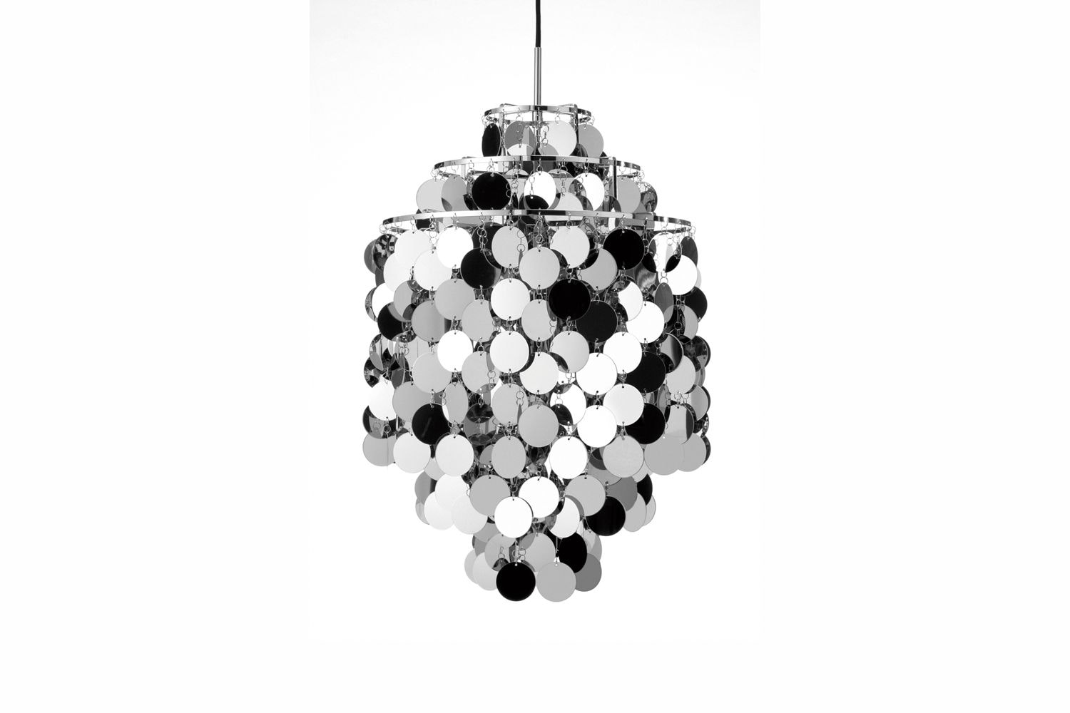 Fun Metal Large Pendant Lamp by Verner Panton for Verpan