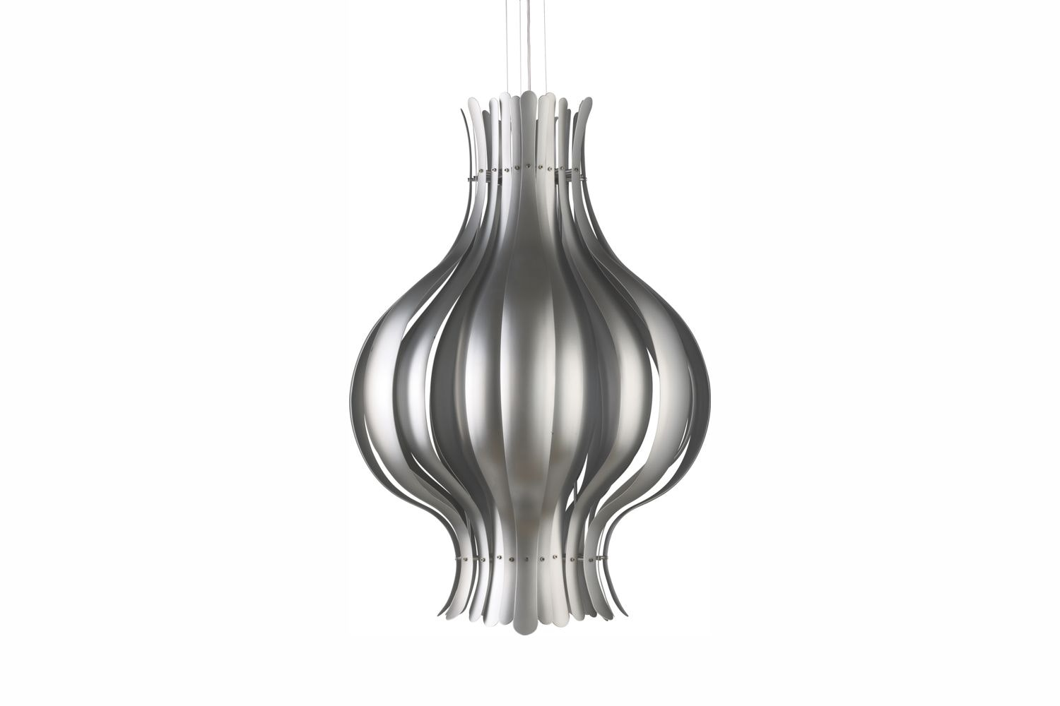 Onion Large Pendant Lamp in Silver by Verner Panton for Verpan