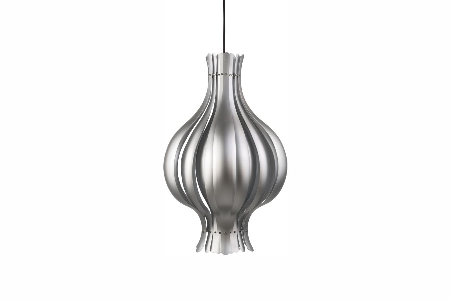 Onion Small Pendant Lamp in Silver by Verner Panton for Verpan
