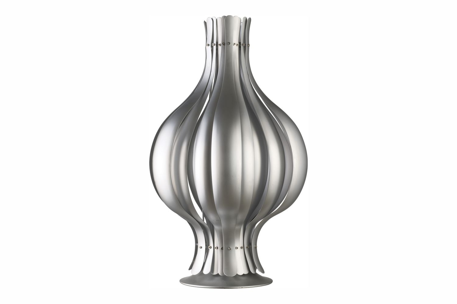 Onion Table Lamp in Silver by Verner Panton for Verpan