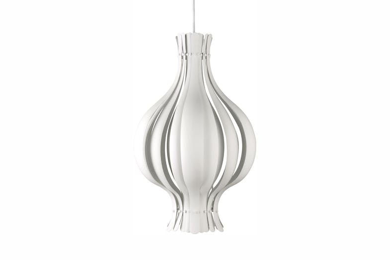 Onion Small Pendant Lamp in White by Verner Panton for Verpan