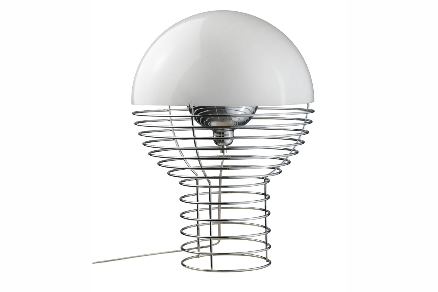 Wire Large Table Lamp in White by Verner Panton for Verpan