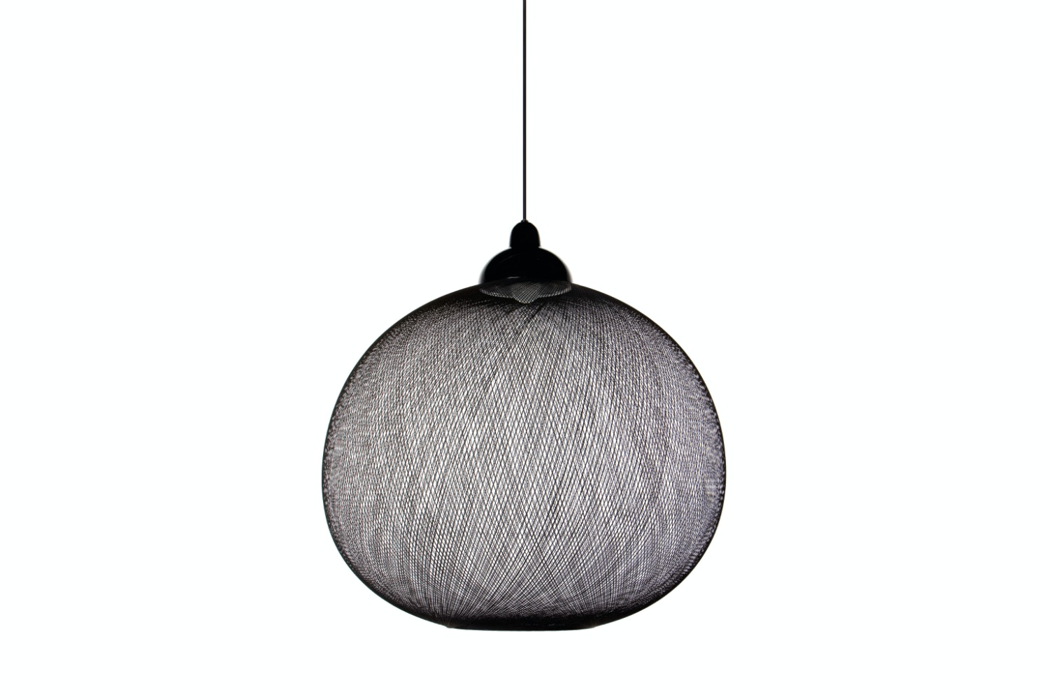 Non Random Large Black Suspension Lamp by Bertjan Pot for Moooi