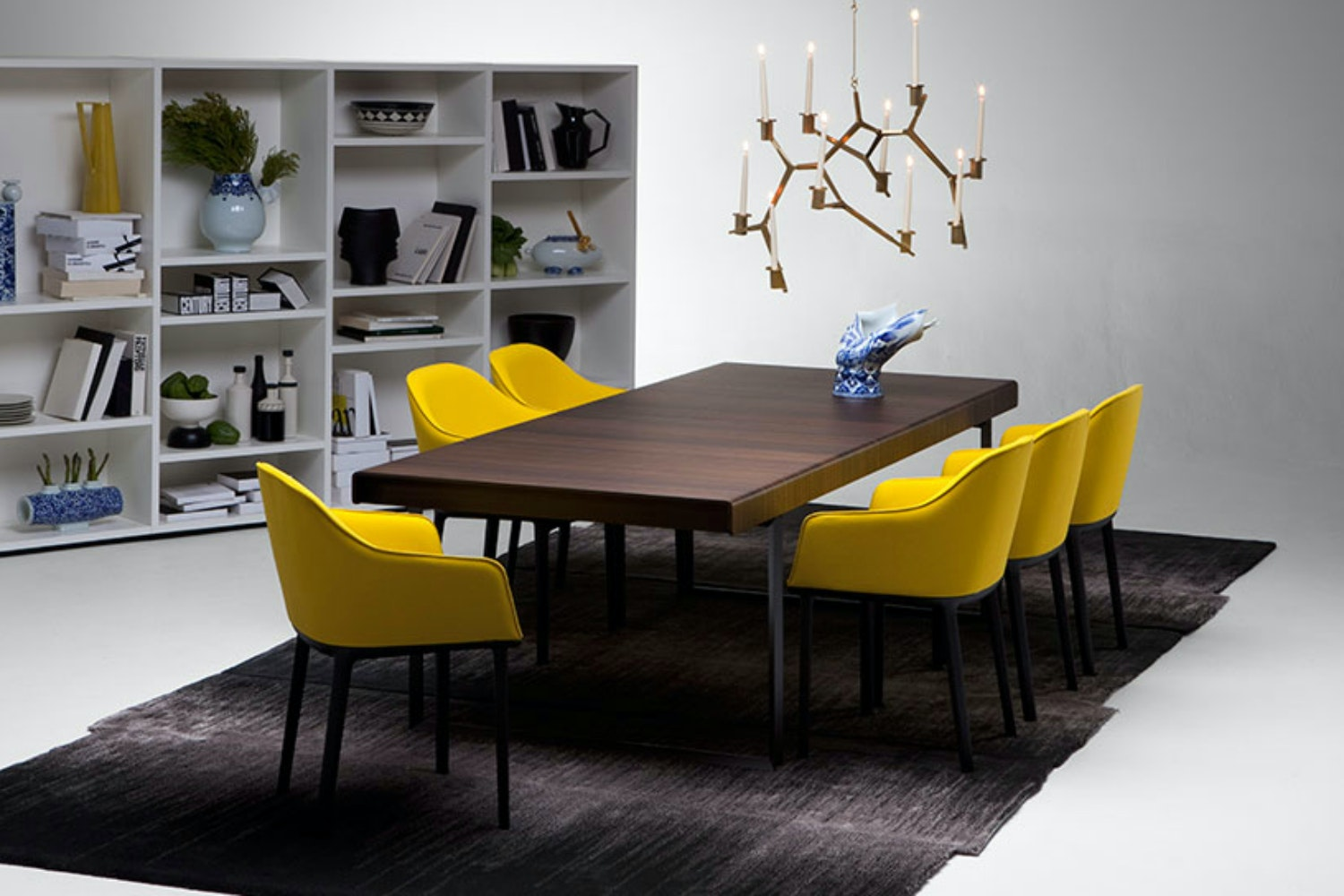 Softshell Chair Yellow Mustard by Ronan & Erwan Bouroullec for Vitra