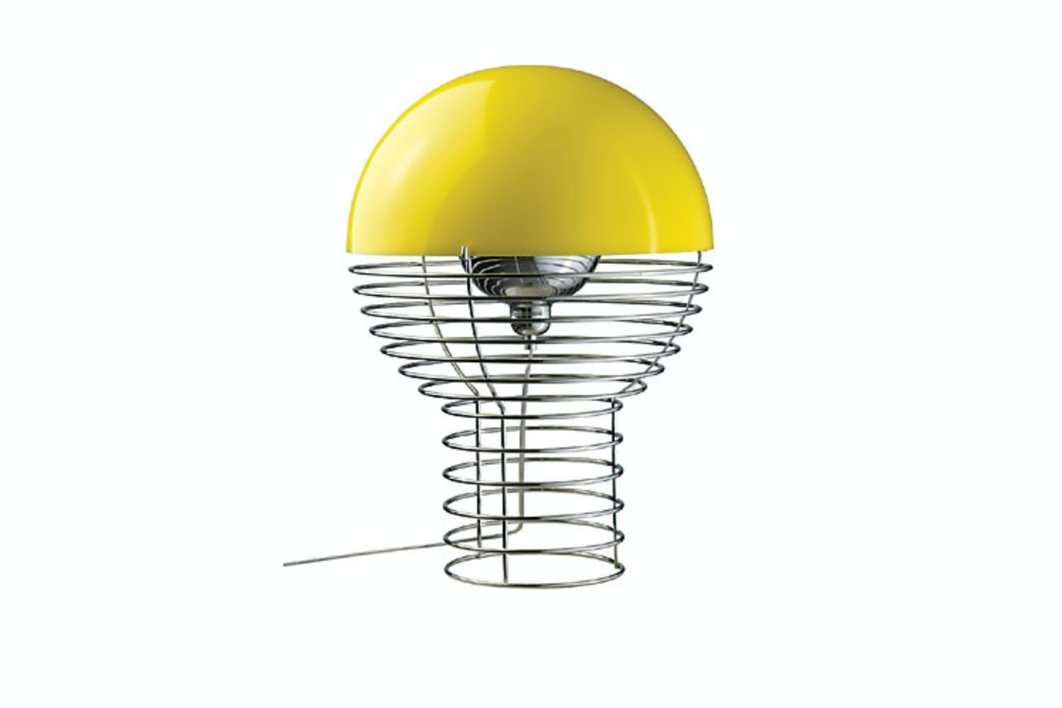 Wire large table lamp in yellow by verner panton for verpan space wire large table lamp in yellow by verner panton for verpan keyboard keysfo Image collections