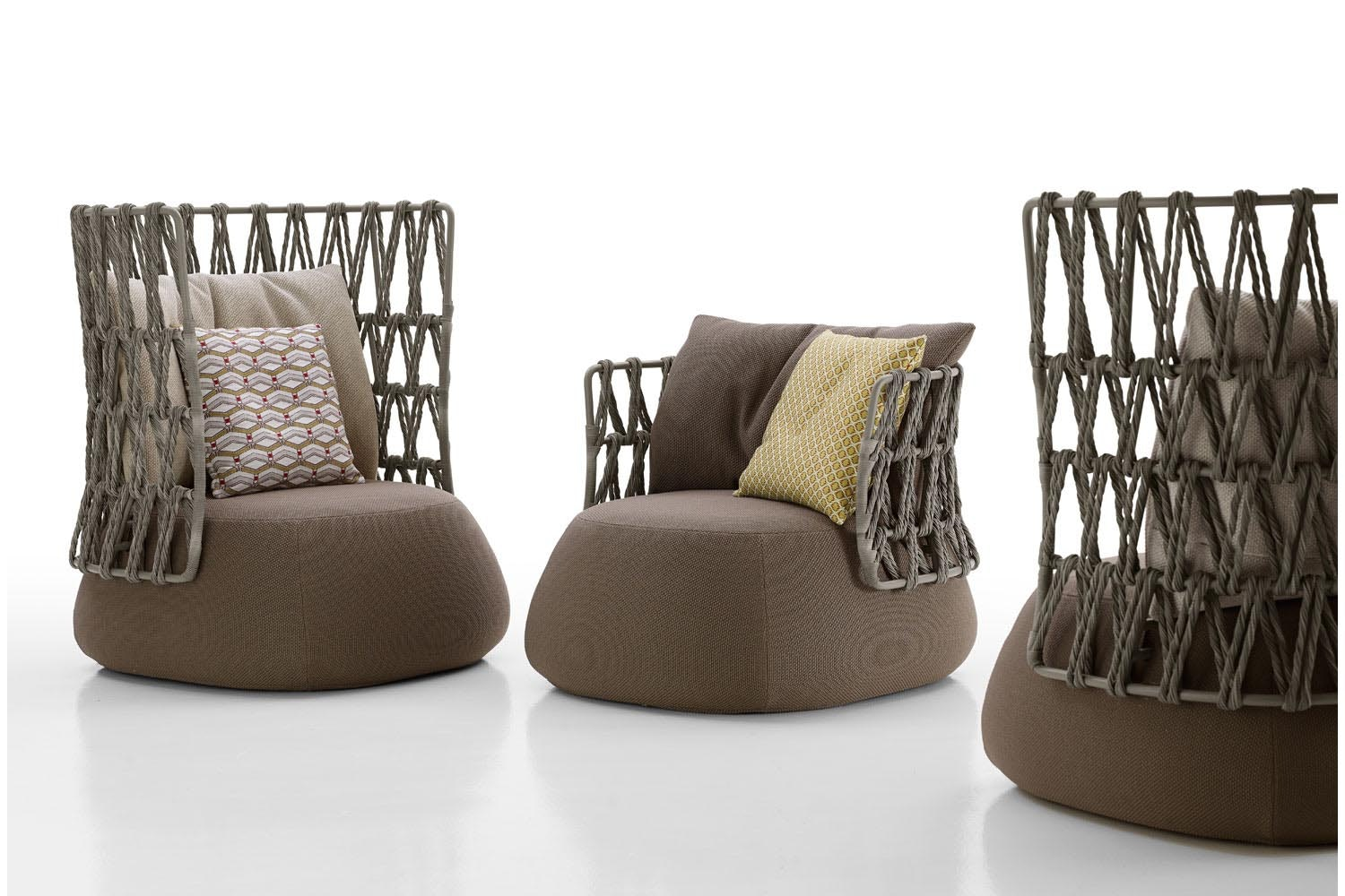 Fat-Sofa Outdoor Armchair by Patricia Urquiola for B&B Italia