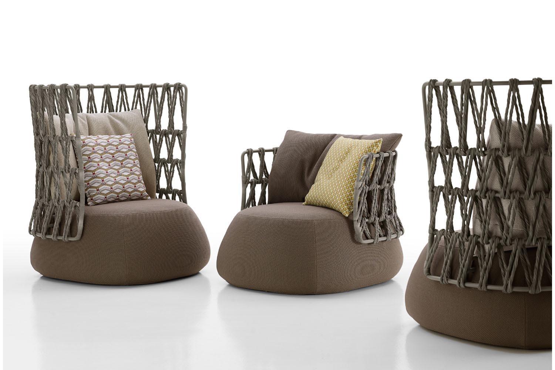 Fat-Sofa Outdoor Armchair by Patricia Urquiola for B&B Italia