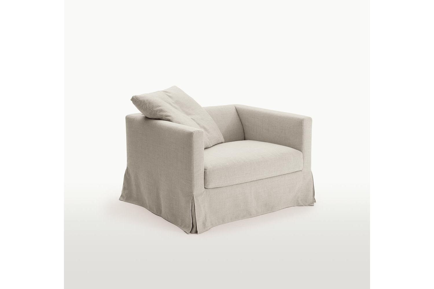 Simpliciter Armchair with Slip Cover by Antonio Citterio for Maxalto
